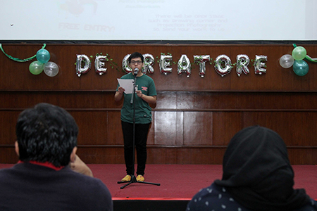 """De Creatore, The Creation Of English Literature""  Fakultas Ilmu Pengetahuan Budaya Universitas Al Azhar Indonesia"