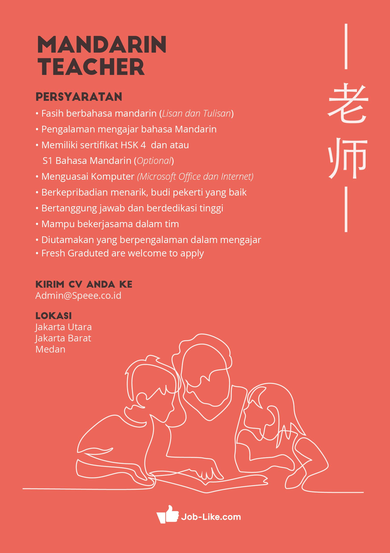 info lowongan kerja mandarin teacher pt speee recruitment rh uai ac id