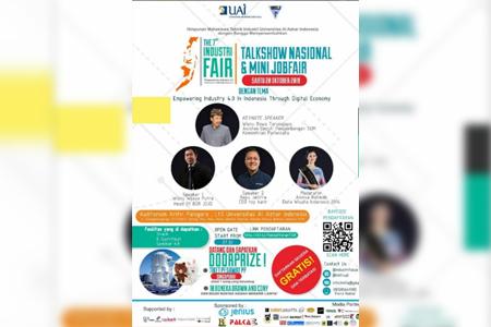 Membangun Generasi Kompetitif Dan Kreatif Di Era Digital Economy Di  7th Industri Fair Main Event