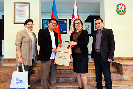 Dean Faculty Of Science & Technology UAI Visited Khazar University, Azerbaijan
