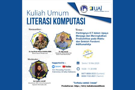 Peranan ICT Dalam Covid-19 Di Kuliah Umum Literasi Komputasi