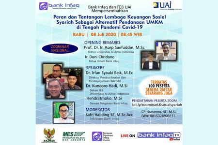Rektor Universitas Al Azhar Indonesia: Perlu Sinergi BAZNAS , Universitas Al Azhar Indonesia Dan Bank Infaq