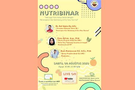 Nutrition Webinar Dengan Tema Menjaga Pola Hidup Sehat Dengan Menerapkan Gizi Seimbang Di Era New Normal