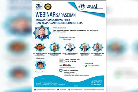 Webinar Sarasehan: Menatap Masa Depan Riset Dan Kemajuan Teknologi Indonesia