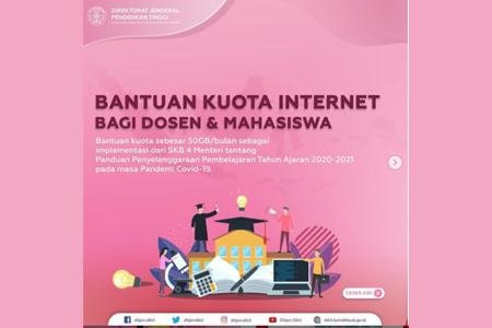 Info Bantuan Kuota Internet Bagi Mahasiswa Dan Dosen