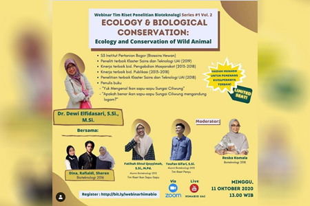 Webinar Research Groups Bioteknologi UAI Series #1 Vol. 2 Ecology & Biological Conservation: ECOLOGY AND CONSERVATION OF WILD ANIMAL