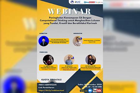 Webinar Computational Thinking 2020 Kerjasama Informatika UAI – Bebras Indonesia