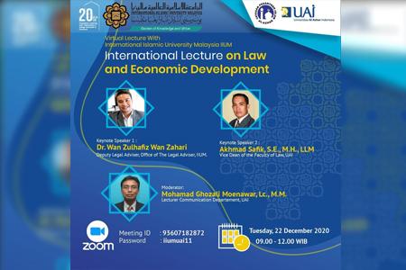 Webinar International Lecture On Law And Economic Development