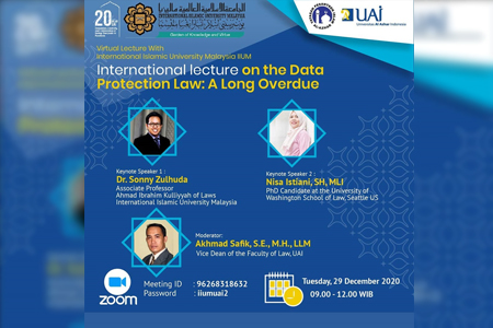 Webinar International Lecture On The Data Protection Law: A Long Overdue