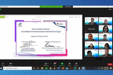 Sah! Universitas Esa Unggul Resmi Jajaki Kerjasama Dengan Universitas Al Azhar Indonesia Di Bidang Pendidikan