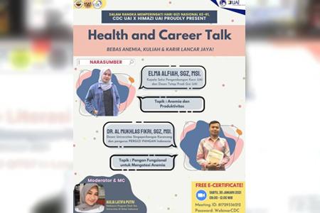 Prodi Gizi UAI Sukses Mengupas Webinar Health & Career Talk Dalam Rangka Memperingati Hari Gizi Nasional Ke-61