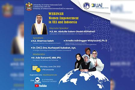 Kolaborasi UAI Dengan UEA Dalam Webinar Pemberdayaan Perempuan