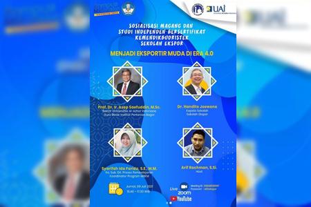 UAI Sukseskan Sosialisasi Studi Independen Sekolah Ekspor Bersama Dr Handito