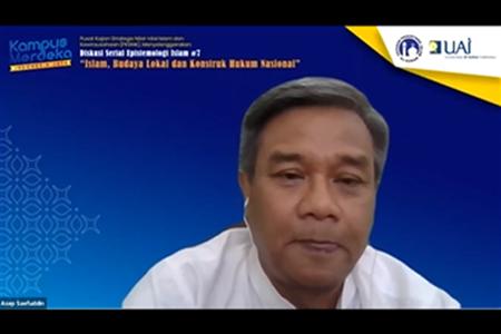 """Diskusi Serial Epistemologi Islam """"Islam, Budaya Lokal Dan Konstruk Hukum Nasional"""""""