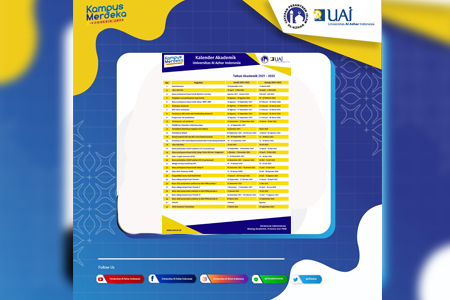Kalender Akademik UAI Tahun 2021 – 2022