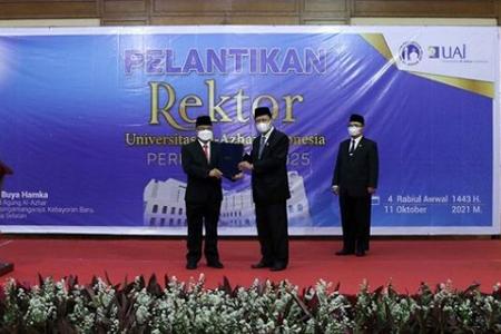 Prof Asep Dilantik Sebagai Rektor Periode 2021 – 2025
